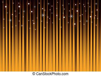 Sterne auf Gold gestreiftem Hintergrund