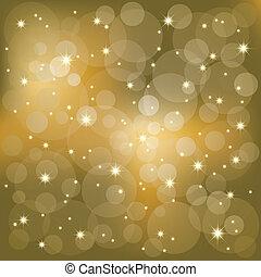 Sterne leuchten im Hintergrund