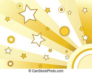 Sterne und Kreise im Hintergrund