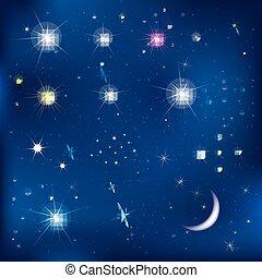 Sterne und Mond.