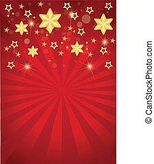 Sterne und Streifen mit Weihnachten