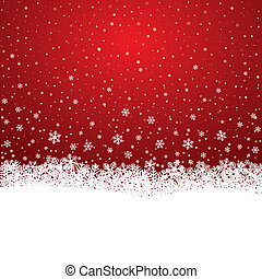 sternen, schnee, hintergrund, weiße schneeflocke, rotes