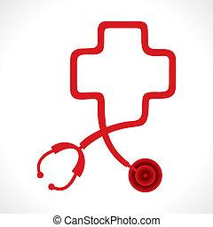 Stethoskop bildet eine Herzform