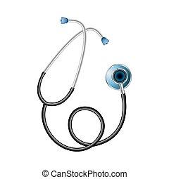 Stethoskop-Gerät, um die inneren Organe zu hören. Medizinische Vorräte.