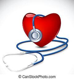 Stethoskop im Herzen
