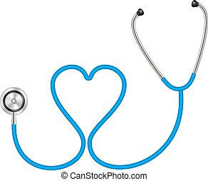 Stethoskop in Herzform.