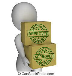 steuerung, ausstellung, briefmarken, produkte, ausgezeichnet, qualität, genehmigt