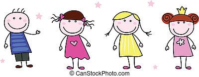 Stickfiguren - Doodle Kinder