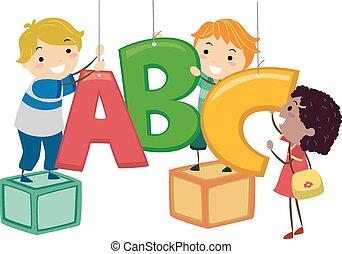 Stickman Kids ABC Dekor.