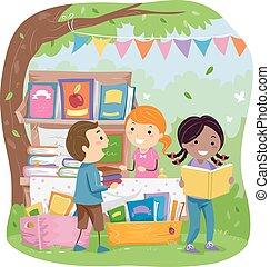 Stickman-Kinder parken Buchhandlung verkaufen.