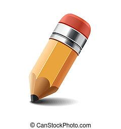 Stift auf weißem Hintergrund. Vector.