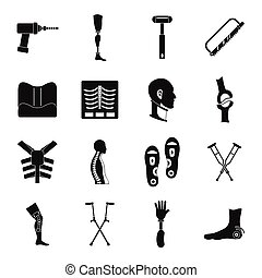 stil, heiligenbilder, satz, prothetik, einfache , orthopädie