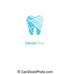stilisiert, blaues, logo, brandmarken, klinik, dental, zahn, begriff, medizin