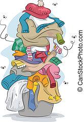 Stinkende Wäsche