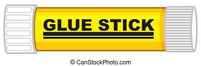 stock, blaues rohr, gelber