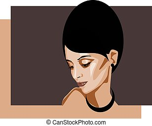 Stockfoto: Porträtfrau