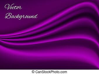 stoff, lila, beschaffenheit, vektor, künstlerisch, hintergrund