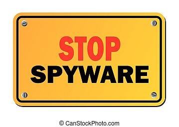 Stoppen Sie Spyware - Warnzeichen.