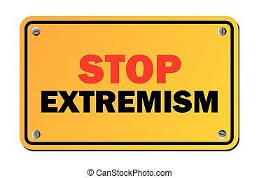 Stoppt Extremismus - Warnzeichen.