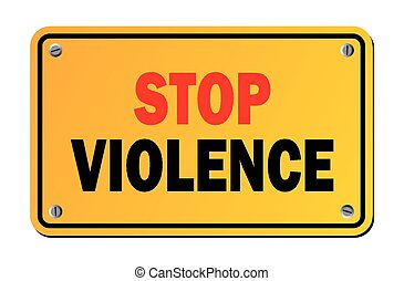 Stoppt Gewalt - Warnzeichen.