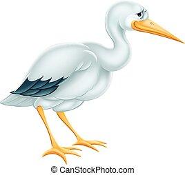 Stork Cartoon.