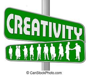 straße, kreativität, zeichen