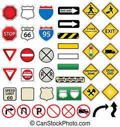 Straßen- und Verkehrsschilder