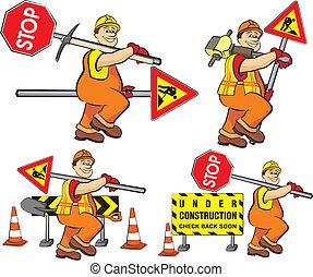 Straßenarbeiter - im Bau