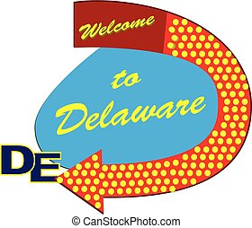 Straßenschild willkommen zum Delaware.