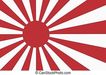strahlen, sonne, japanische markierung, marine, sechzehn