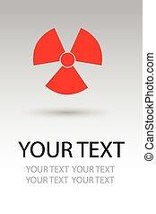 Strahlungsrisikozeichen.