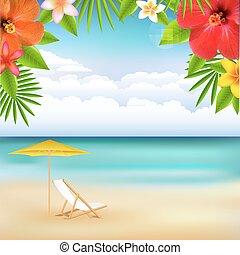 Strandlandschaft.