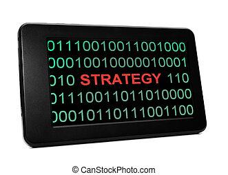 Strategiekonzept auf PC Tablet