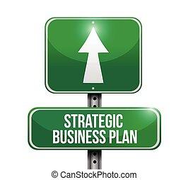 Strategischer Plan-Road-Zeichende Illustration