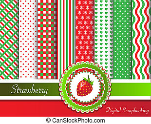 Strawberry Digital Scrapbooking