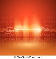 Stream von Binärcode mit Schalttafeltextur