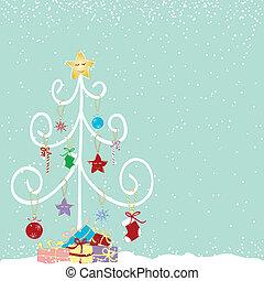 Streicht den farbenfrohen Weihnachtsbaum