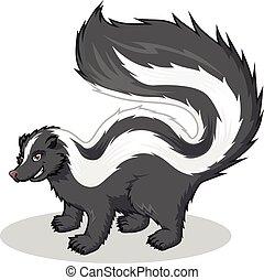 Streifen-Skunk-Cartoon.