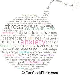 Stress Bombenwortwolke.
