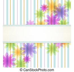 Stripe-Foral-Hintergrund