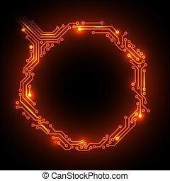 stromkreis, abstrakt, heiß, vektor, brett, hintergrund