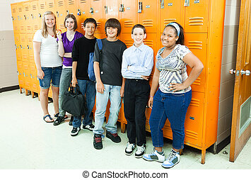 Studenten in der Schule wechseln