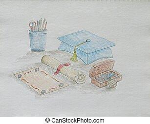 studienabschluss, karte