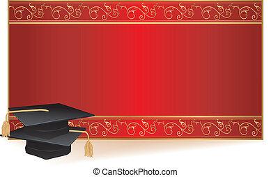 studienabschluss, karte, einladung