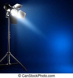 Studiofoto-Licht mit Lichtstrahl.