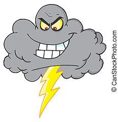 Sturmwolke mit Blitz