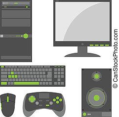 Stylish, einfache externe Computerteile
