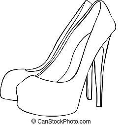 Stylish High Heeled Stiletto Schuhe