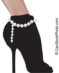 Stylishe Silhouette-Frau Schuhe High Heels