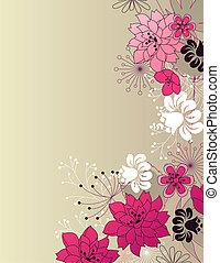 Stylishes Blumenlicht, rosa Hintergrund